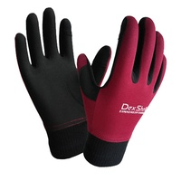 DexShell Waterproof Aqua Blocker Gloves - Burgundy
